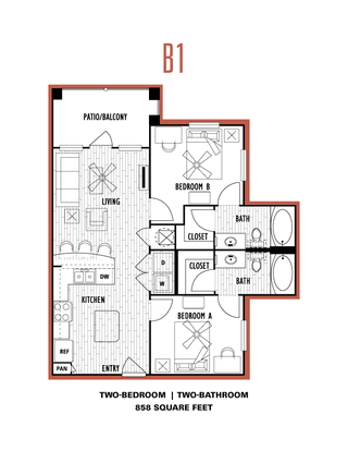 2 Bedrooms 2 Bathrooms Apartment for rent at Domain At Columbia in Columbia, MO