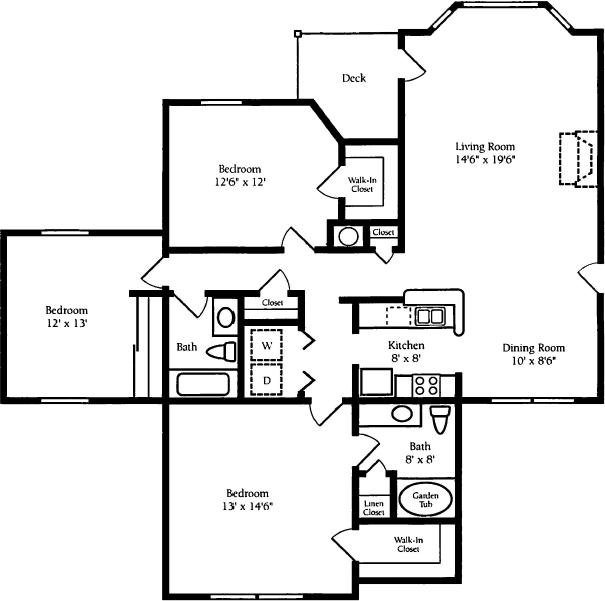 1 Bedroom 1 Bathroom Apartment for rent at Waterford Place in Stockbridge, GA