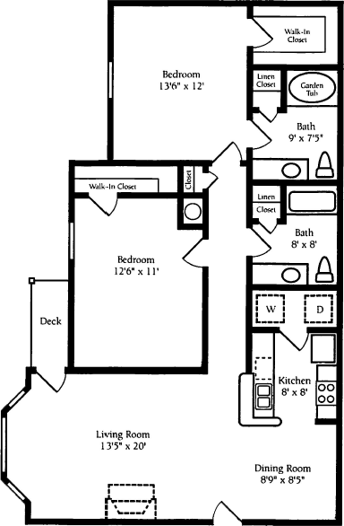 2 Bedrooms 2 Bathrooms Apartment for rent at Waterford Place in Stockbridge, GA