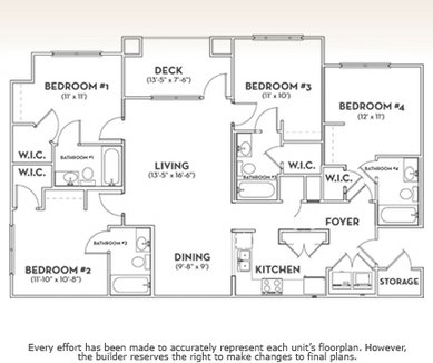 4 Bedrooms 4+ Bathrooms Apartment for rent at The Woodlands Of Knoxville in Knoxville, TN