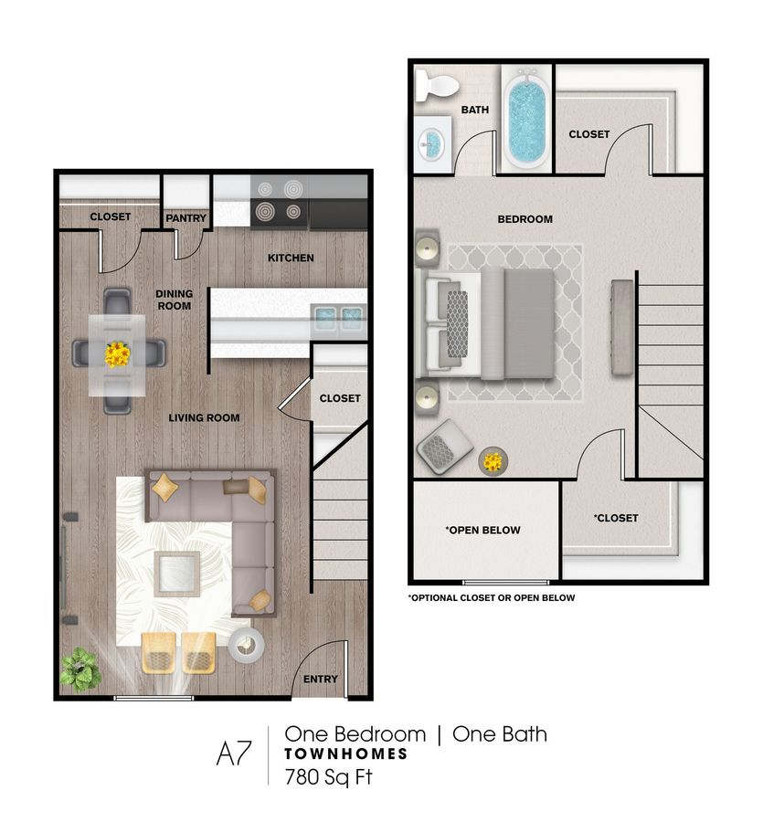 1 Bedroom 1 Bathroom Apartment for rent at The Heights At 4300 Apartments in Houston, TX