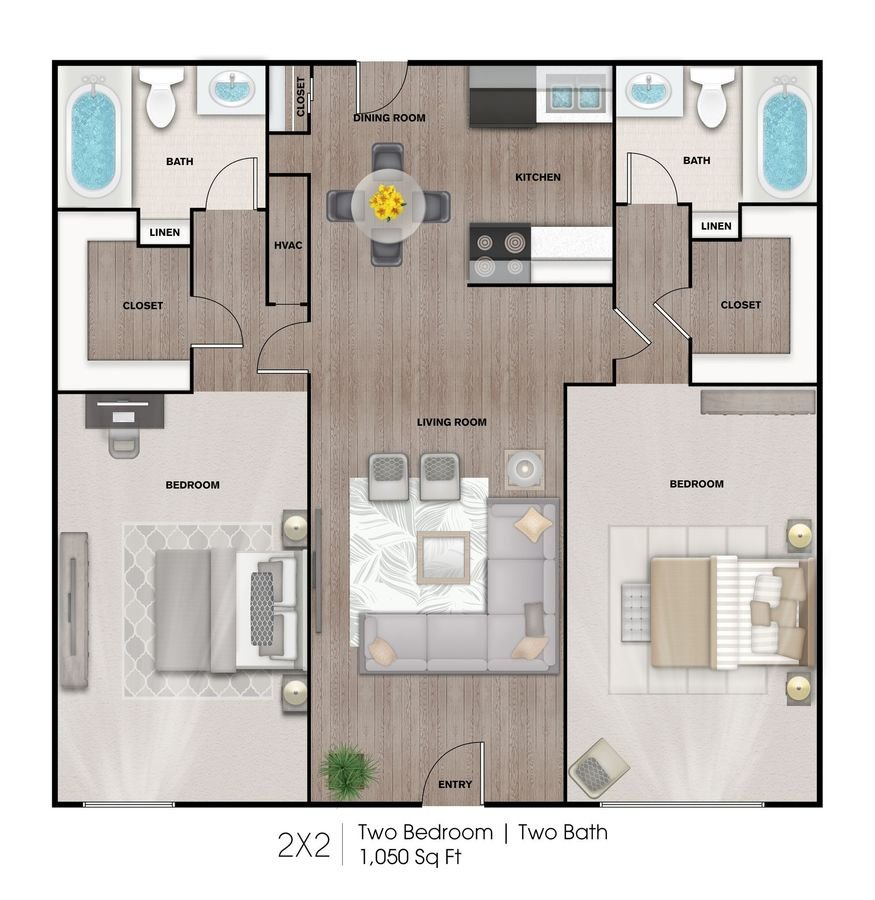 2 Bedrooms 2 Bathrooms Apartment for rent at The Heights At 4300 Apartments in Houston, TX