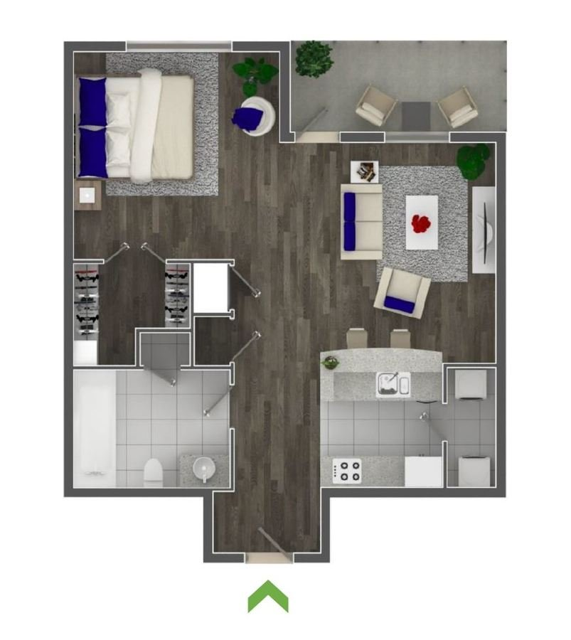 Studio 1 Bathroom Apartment for rent at Highland Walk Apartments in Atlanta, GA