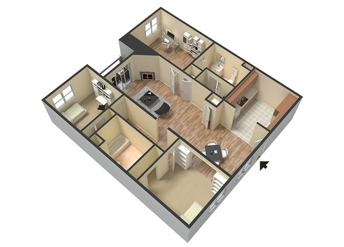3 Bedrooms 2 Bathrooms Apartment for rent at Le Blanc Apartment Homes in Canoga Park, CA