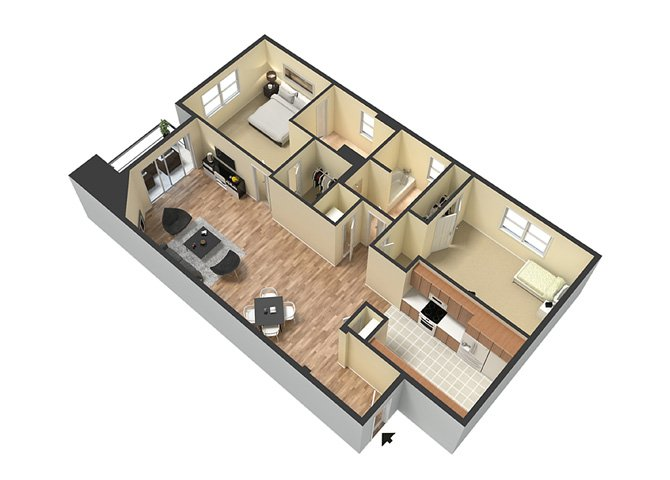 2 Bedrooms 2 Bathrooms Apartment for rent at Le Blanc Apartment Homes in Canoga Park, CA