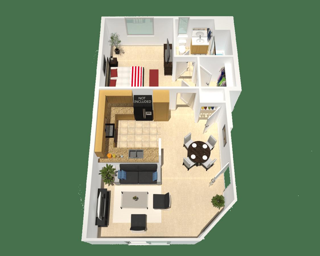 1 Bedroom 1 Bathroom Apartment for rent at Toscana Apartments in Lake Balboa, CA