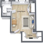 Studio 1 Bathroom Apartment for rent at Nob Hill Place in San Francisco, CA