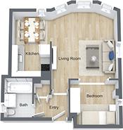 1 Bedroom 1 Bathroom Apartment for rent at Nob Hill Place in San Francisco, CA