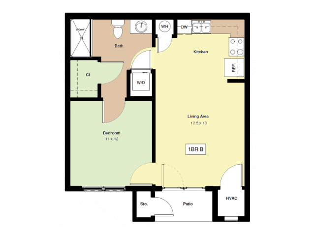 1 Bedroom 1 Bathroom Apartment for rent at University Village Apartments in Lexington, KY