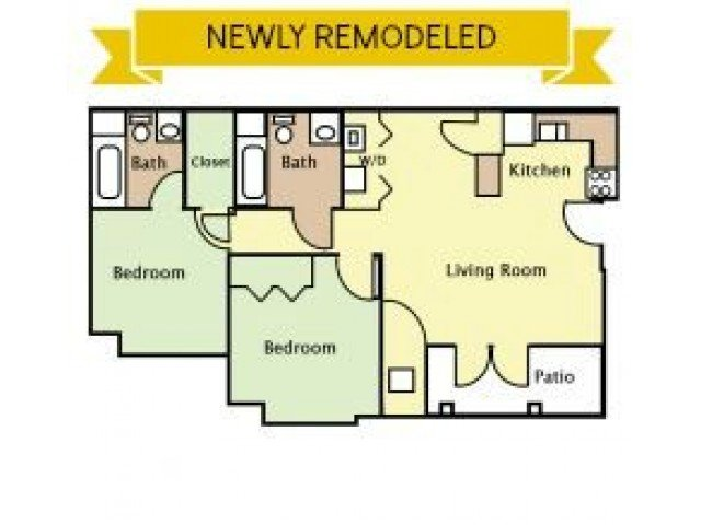 2 Bedrooms 2 Bathrooms Apartment for rent at University Village Apartments in Lexington, KY