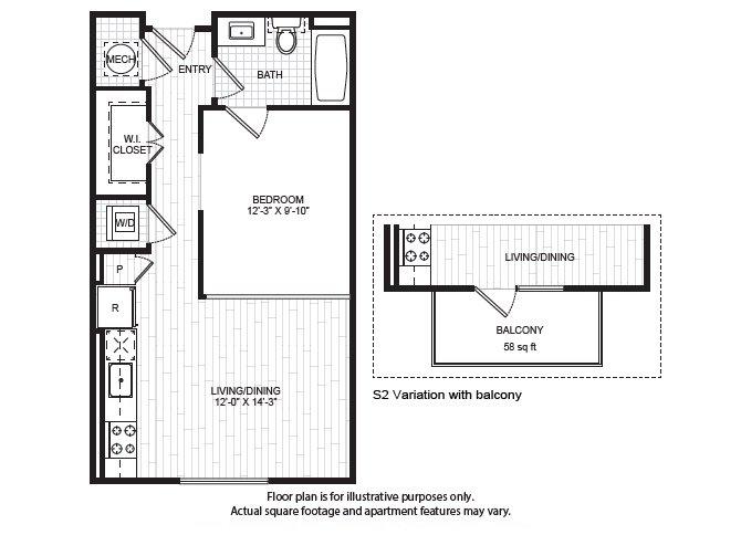 Studio 1 Bathroom Apartment for rent at Windsor Old Fourth Ward in Atlanta, GA