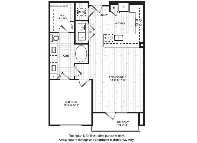 1 Bedroom 1 Bathroom Apartment for rent at Windsor Old Fourth Ward in Atlanta, GA