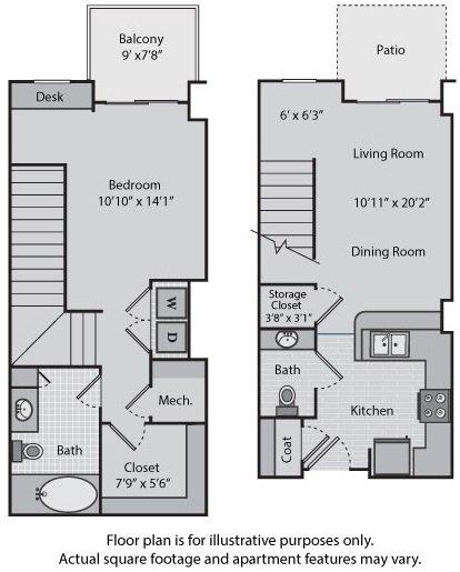 1 Bedroom 1 Bathroom Apartment for rent at Windsor At Brookhaven in Atlanta, GA
