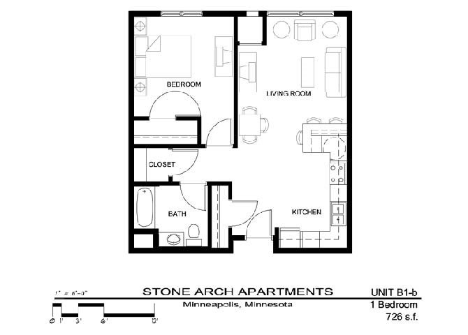 1 Bedroom 1 Bathroom Apartment for rent at Stone Arch in Minneapolis, MN