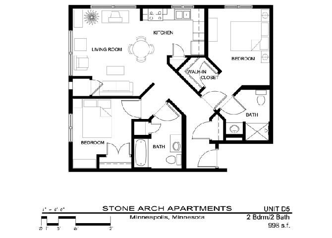 2 Bedrooms 2 Bathrooms Apartment for rent at Stone Arch in Minneapolis, MN