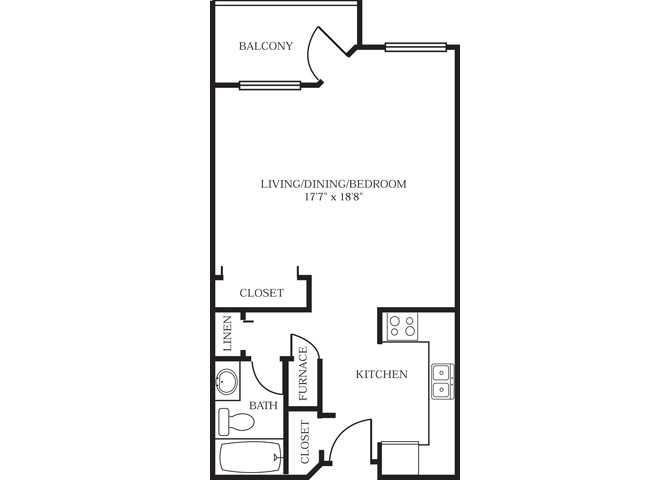Studio 1 Bathroom Apartment for rent at Park At City West in Eden Prairie, MN
