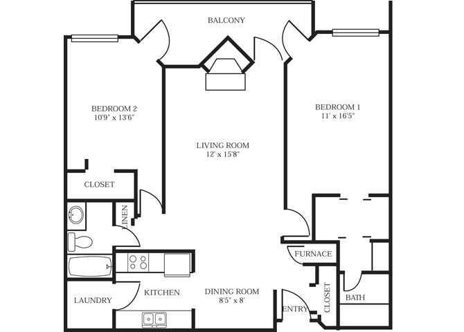 2 Bedrooms 2 Bathrooms Apartment for rent at Park At City West in Eden Prairie, MN