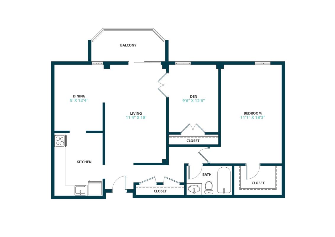1 Bedroom 1 Bathroom Apartment for rent at Trillium Apartments in Fairfax, VA