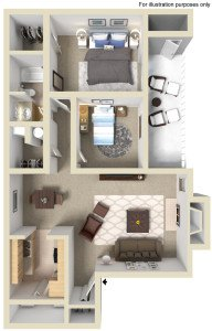 2 Bedrooms 1 Bathroom Apartment for rent at Devonwood Apartments in Charlotte, NC