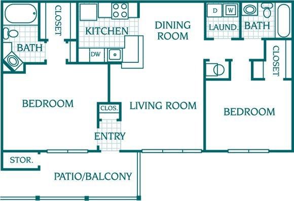 2 Bedrooms 2 Bathrooms Apartment for rent at The Columns At Oakwood in Oakwood, GA