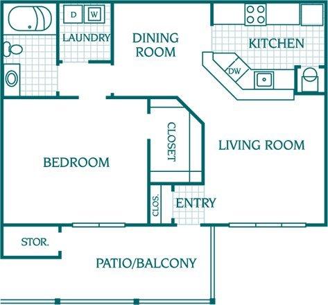 1 Bedroom 1 Bathroom Apartment for rent at The Columns At Oakwood in Oakwood, GA