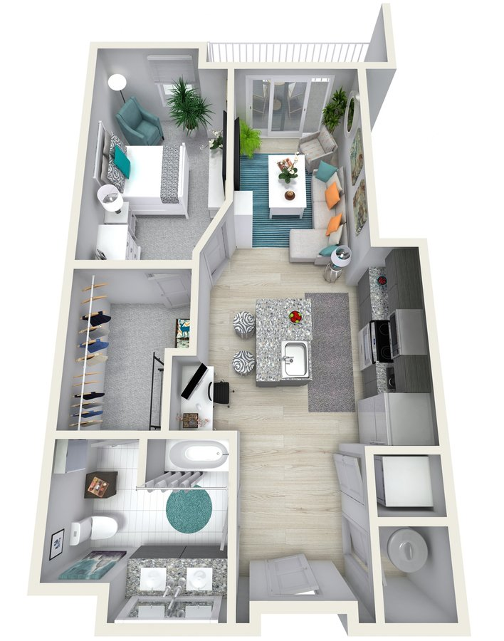 1 Bedroom 1 Bathroom Apartment for rent at Channel Club Apartments in Tampa, FL