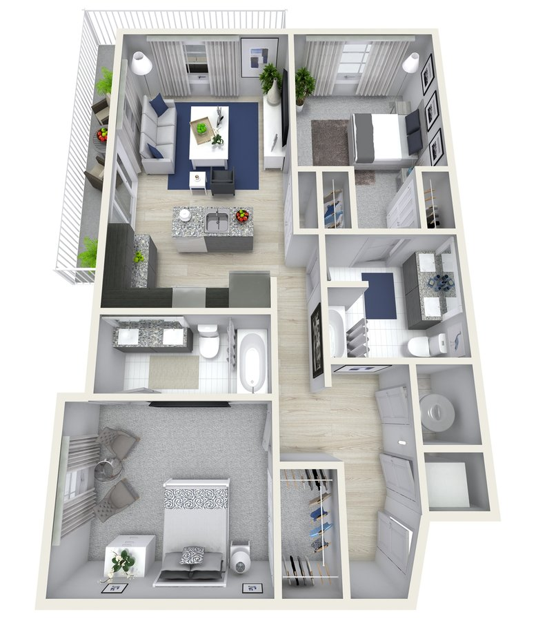 2 Bedrooms 2 Bathrooms Apartment for rent at Channel Club Apartments in Tampa, FL