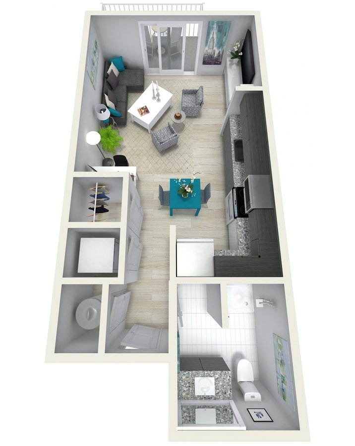 Studio 1 Bathroom Apartment for rent at Channel Club Apartments in Tampa, FL