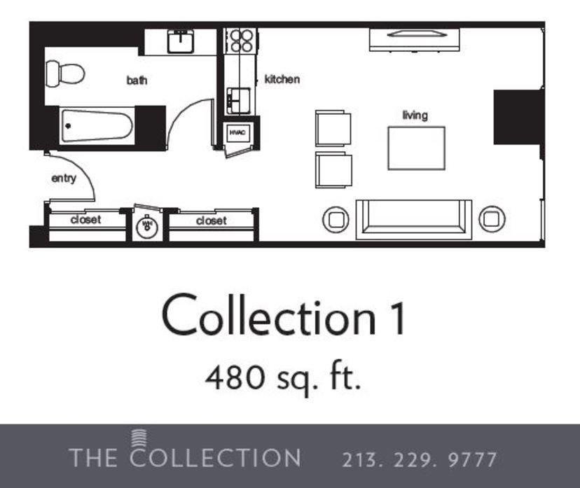 Studio 1 Bathroom Apartment for rent at 255 Grand in Los Angeles, CA