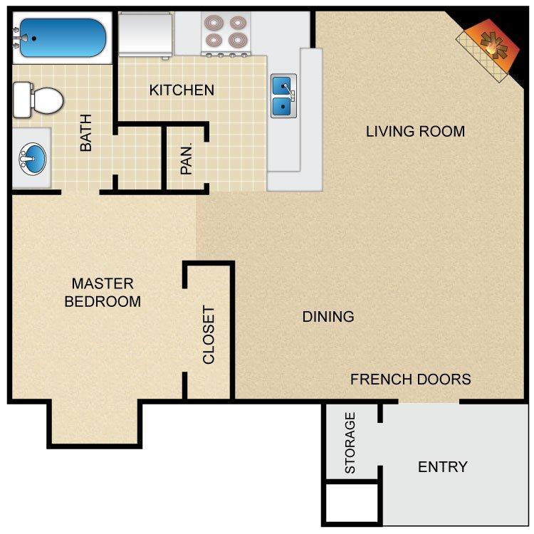 1 Bedroom 1 Bathroom Apartment for rent at Avistar At The Parkway in San Antonio, TX