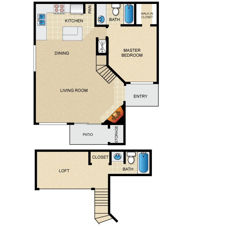 1 Bedroom 2 Bathrooms Apartment for rent at Avistar At The Parkway in San Antonio, TX