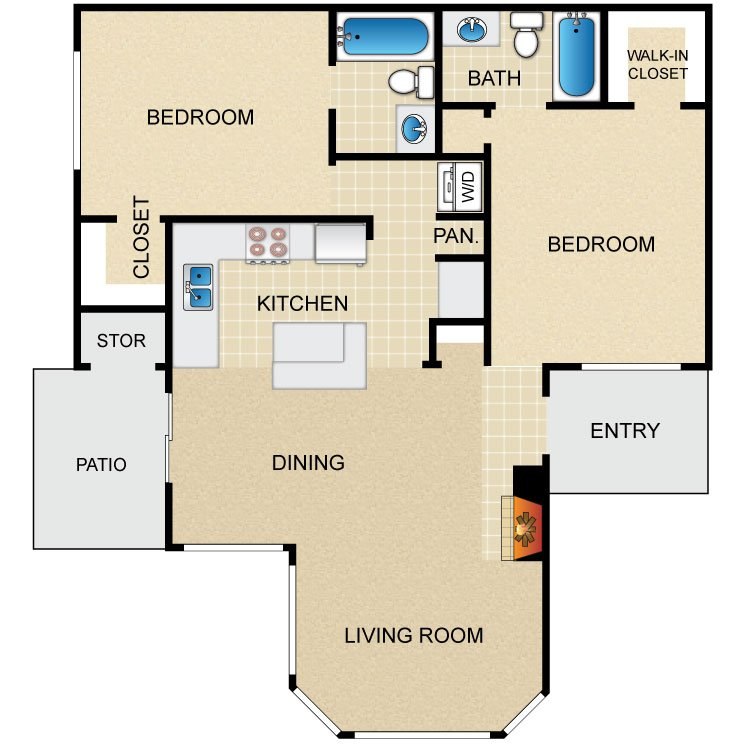 2 Bedrooms 2 Bathrooms Apartment for rent at Avistar At The Parkway in San Antonio, TX