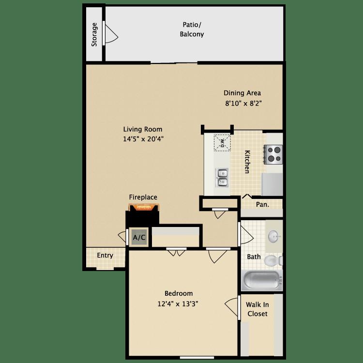 1 Bedroom 1 Bathroom Apartment for rent at Avistar At Wood Hollow in Austin, TX