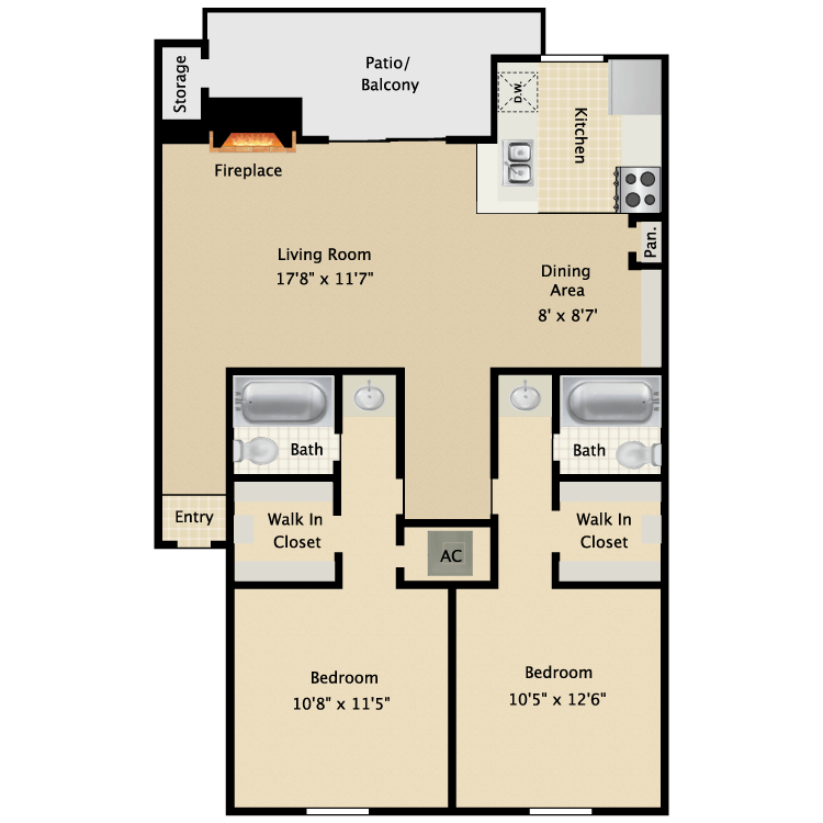 2 Bedrooms 2 Bathrooms Apartment for rent at Avistar At Wood Hollow in Austin, TX