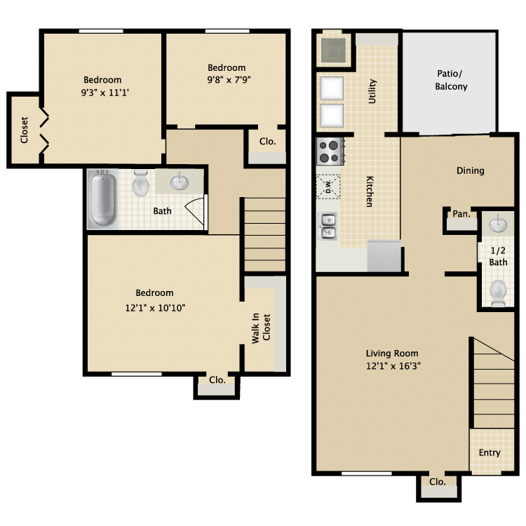 3 Bedrooms 1 Bathroom Apartment for rent at Avistar At Wood Hollow in Austin, TX