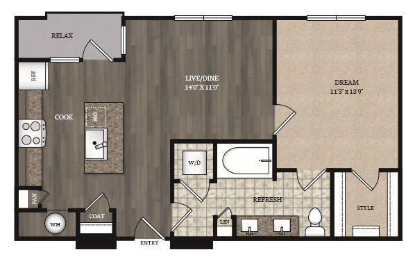 1 Bedroom 1 Bathroom Apartment for rent at The Marling Apartments in Madison, WI