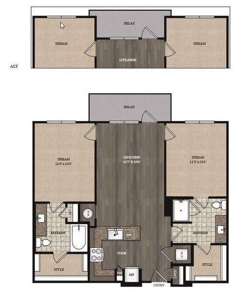 2 Bedrooms 2 Bathrooms Apartment for rent at The Marling Apartments in Madison, WI