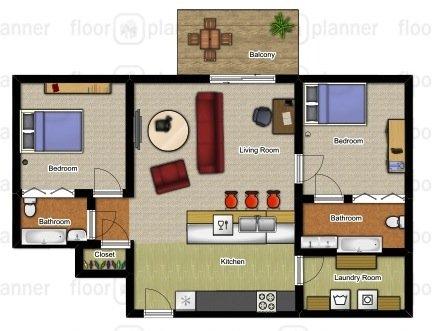 2 Bedrooms 2 Bathrooms Apartment for rent at Hidden Hills in Kalamazoo, MI