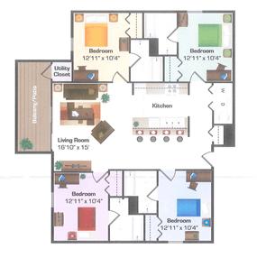 4 Bedrooms 4+ Bathrooms Apartment for rent at Hidden Hills in Kalamazoo, MI