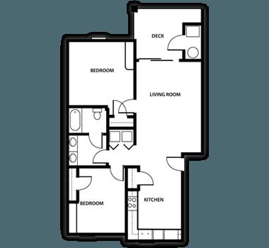 2 Bedrooms 1 Bathroom Apartment for rent at Arboretum in Kalamazoo, MI