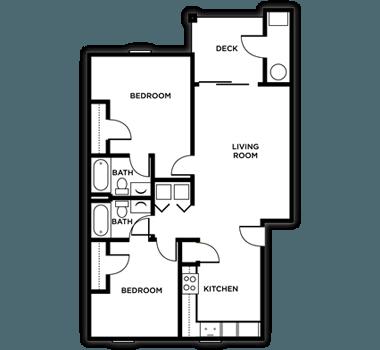 2 Bedrooms 2 Bathrooms Apartment for rent at Arboretum in Kalamazoo, MI