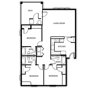 3 Bedrooms 3 Bathrooms Apartment for rent at Arboretum in Kalamazoo, MI