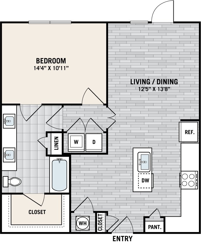 1 Bedroom 1 Bathroom Apartment for rent at West Love in Dallas, TX
